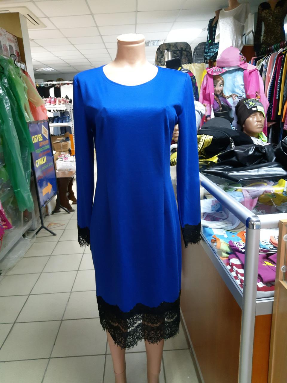 Платье женское с кружевом р.48 - 52