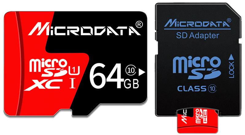 Карта памяти MicroSD 64GB Class 10+подарок SD адаптер