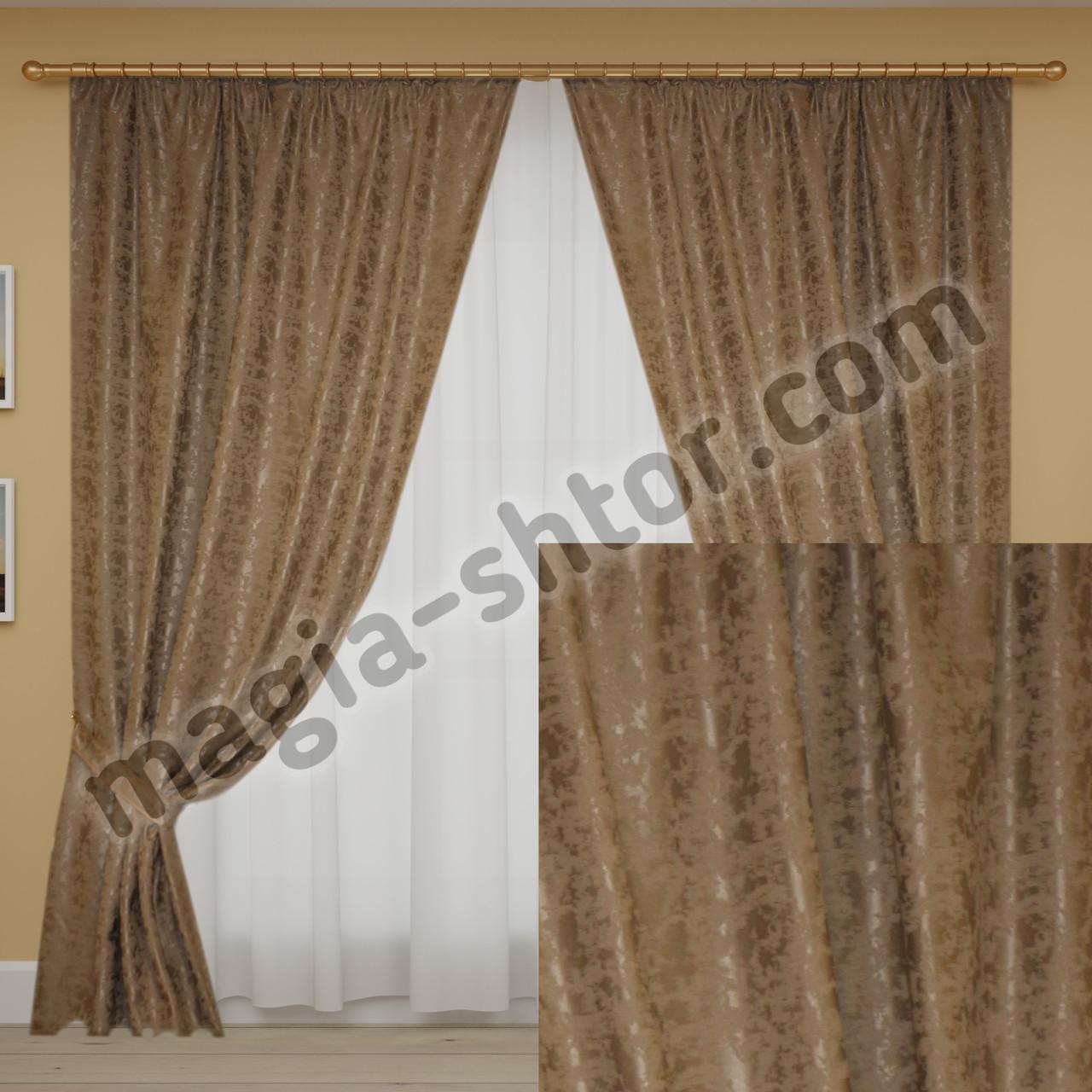 Готовые шторы мрамор светло-серые