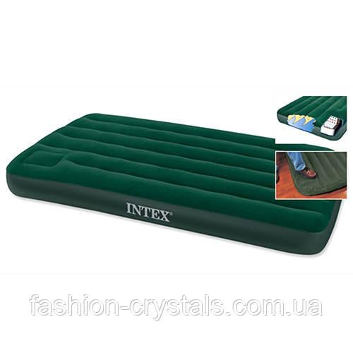 Надувной матрас со встроен. ножным насосом Intex 66950