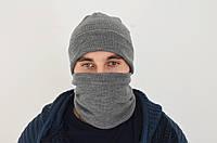 Скидка! Комплект Шапка мужская зимняя Баф Хомут Снуд тнф фп Балаклава, фото 1