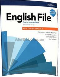 Английский язык / English File/ Student's Book+Online Practice. Учебник, Pre-Intermediate / Oxford