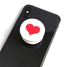 Попсокет для телефона Red Heart Popsocket
