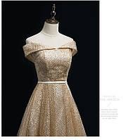 425bc5f92b8 Золотое платье вечернее.Выпускное платье золотое в пол. Вечірня сукня  золото-срібло