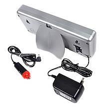 Автомобильные электронные настенно-настольные светодиодные часы Caixing CX-2159 серебристый корпус, фото 2