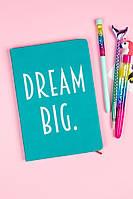 Блокнот из экокожи Dream Big (бирюзовый)