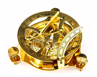 Солнечные Часы с Компасом Бронзовые, фото 1
