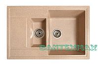Мойка гранитная для кухни Solid Практик песок 78x51, фото 1
