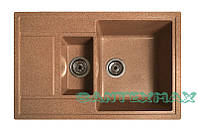 Кухонная каменная мойка Solid Практик терракот ( гранит ) 78x51, фото 1