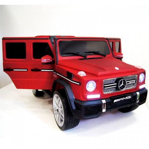 Электромобиль детский Mercedes-Benz G65 AMG Бордовый