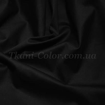 Ткань коттон стрейч черный, фото 2