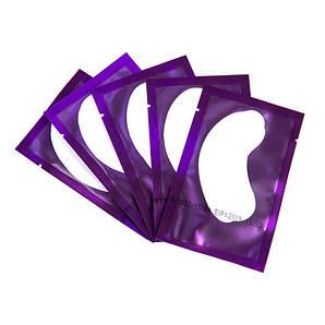 Фиолетовые гидрогелевые патчи под глаза COLOR 5 пар для ламинирования ресниц