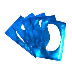 Синие гидрогелевые патчи под глаза COLOR 5 пар для ламинирования ресниц