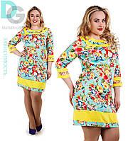 Платье  Цветы ментол