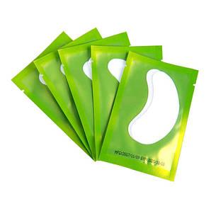 Зеленые гидрогелевые патчи под глаза COLOR 5 пар для ламинирования ресниц