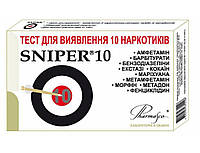 Тест-кассета Sniper д/опр.10 наркотиков