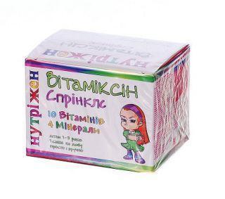 Нутрижен Витамиксин Спринклс саше №30 витамины; Бебитамин капли 25 мл