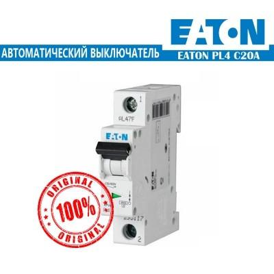Автоматический выключатель Eaton PL4 20А 1Р