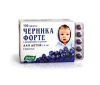 ЧЕРНИКА форте витамины+цинк №100таб Эвалар