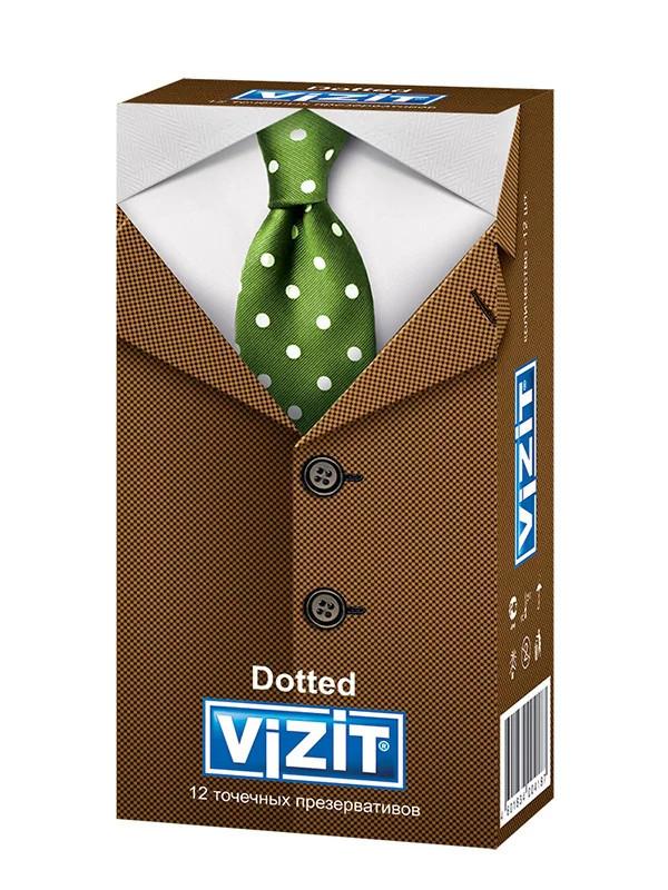 Презервативы Dotted с пупырышками (12 шт.) VIZIT
