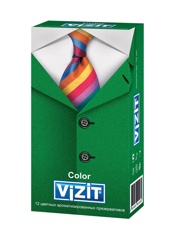 Презервативы Aroma ароматизированные цветные (12 шт.) VIZIT