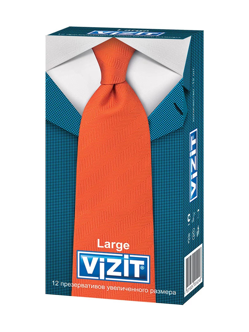 Презервативы Large увеличенного размера (12 шт.)VIZIT