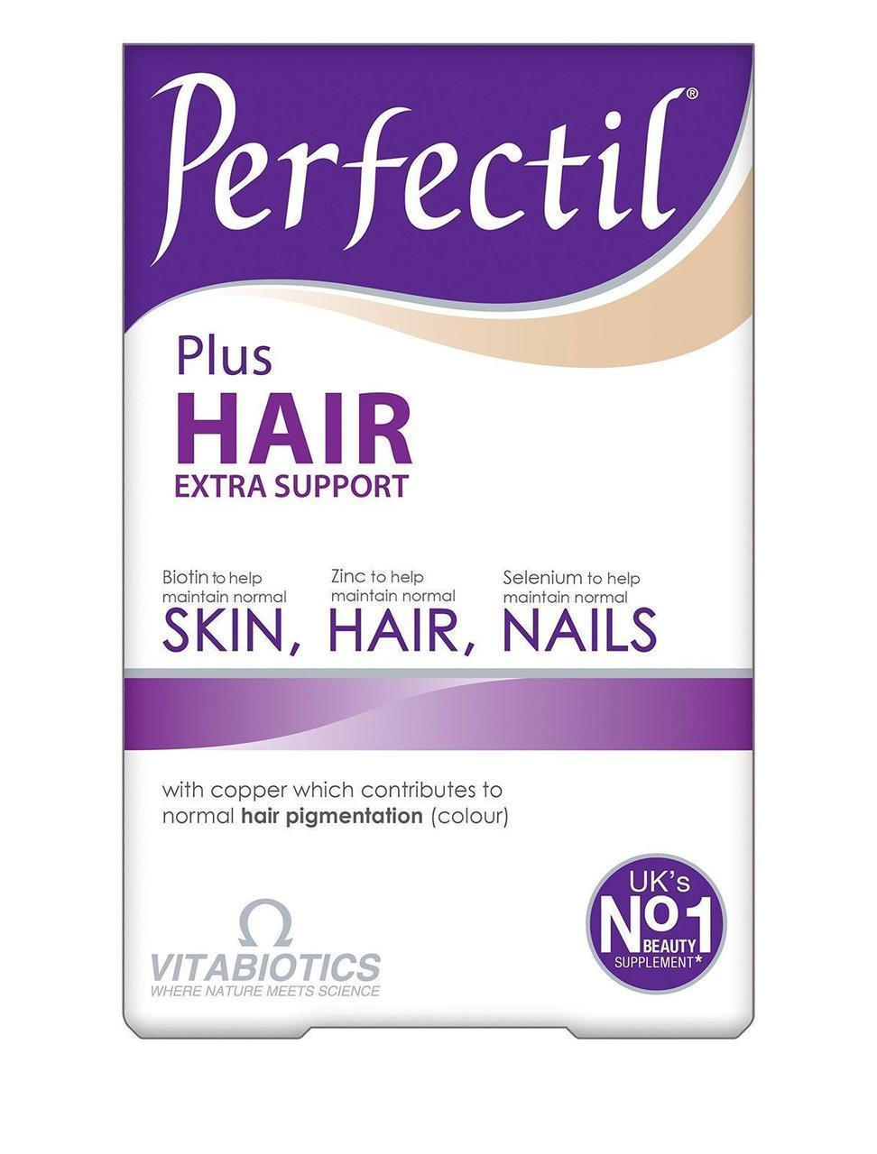 ПЕРФЕКТИЛ ПЛЮС Роскошные волосы Vitabiotics Perfectil Plus Hair - 60 таблеток  Великобритания ОРИГИНАЛ