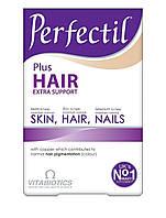 ПЕРФЕКТИЛ ПЛЮС Роскошные волосы Vitabiotics Perfectil Plus Hair - 60 таблеток  Великобритания ОРИГИНАЛ, фото 1