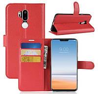Чехол-книжка Litchie Wallet для LG G7 Красный