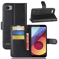 Чехол-книжка Litchie Wallet для LG Q6 / Q6+ / Q6a / Q6 Prime Черный