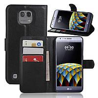 Чехол-книжка Litchie Wallet для LG X Cam K580 Черный