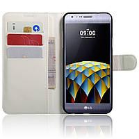 Чехол-книжка Litchie Wallet для LG X Cam K580 Белый