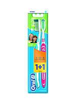 Зубная щетка 3 Эффект «Натуральная свежесть» — средняя (1 шт. +1 шт. бесплатно) Oral-B