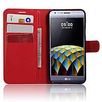Чехол-книжка Litchie Wallet для LG X Cam K580 Красный