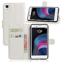 Чехол-книжка Litchie Wallet для LG X Style K200 Белый