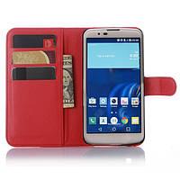 Чехол-книжка Litchie Wallet для LG K10 K410 / K430DS Красный