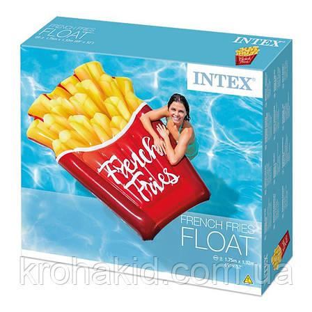"""Надувной матрас Intex 58775 EU """"Картошка Фри"""",полуторный,  размер 175-132 см, от 12-ти лет, фото 2"""