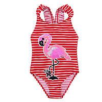 Совместный детский купальник для девочки от 4 до 12 лет Красный