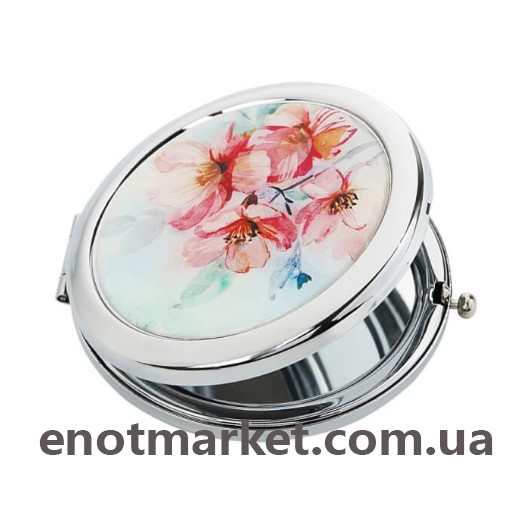 """Зеркало карманное косметическое """"Нежные цветы"""""""