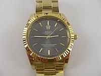 Мужские часы Rolex 013117 золотистые с черным циферблатом копия, фото 1