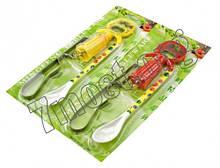 Набір для кухні 3шт на аркуші (ложка +овочерізка мет. +штоп. з открывашкой)