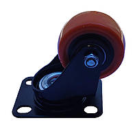 Колесо оранжевое поворотное д50 на подшипниках, фото 1