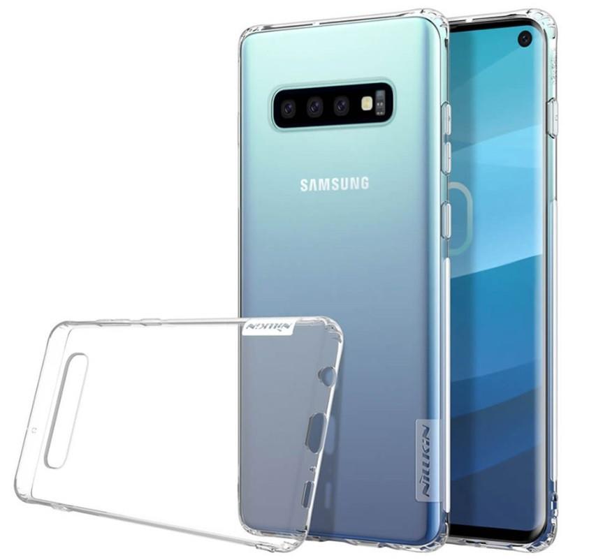 Чехол накладка Nillkin для Samsung Galaxy S10 Nature ser. TPU бесцветный