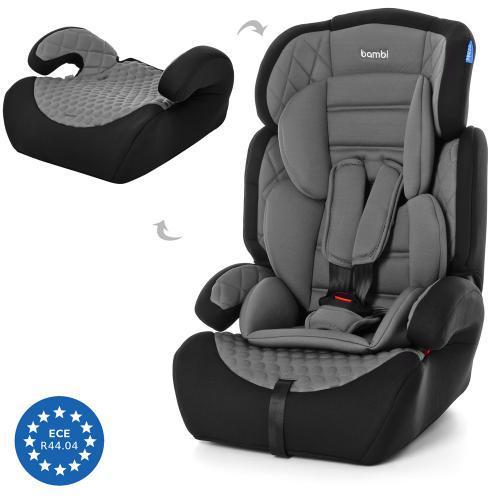 Автокресло детское Bambi M 3546-6, кресло и бустер 2 в 1, вес ребенка 9-36 кг (группа 1-2-3)