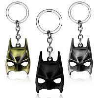 Брелок металлический Супергерои маска Бэтмен 6см