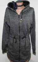 Женская толстовка утепленная флис на змейке с капюшоном  кофта худи S M L XL 2XL