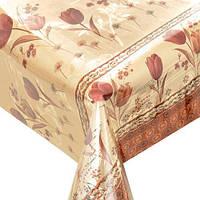 Скатерть двухсторонняя тюльпаны от 1м