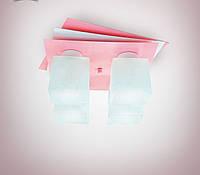 Люстра потолочная металлическая розовая