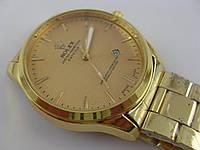 Мужские часы Rolex 7068 золотистые с календарем