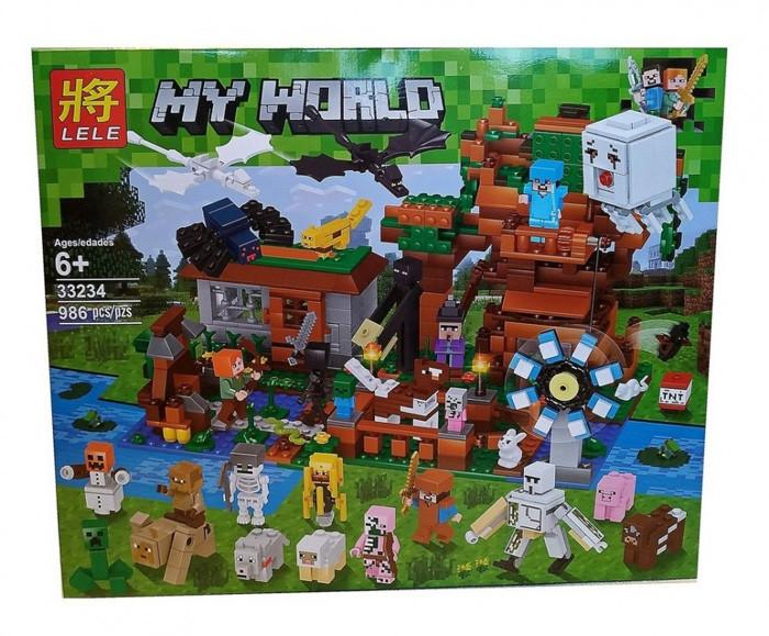 """Конструктор Lele 33234 Майнкрафт """"Город с мельницей"""" аналог Lego Minecraft, 986 деталей"""